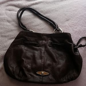 Leather Satchel--Brown